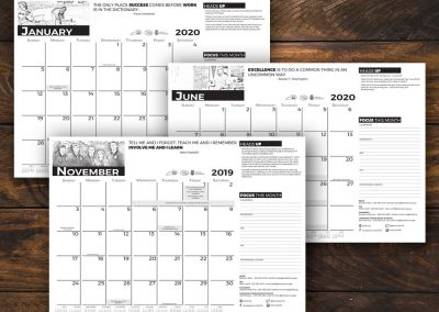 Custom Desk Pad Calendar