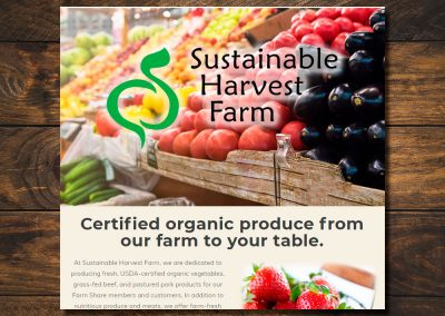Sustainable Harvest Farm Website