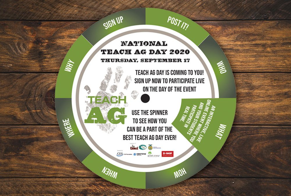 Teach Ag Day Spinning Event Invitation