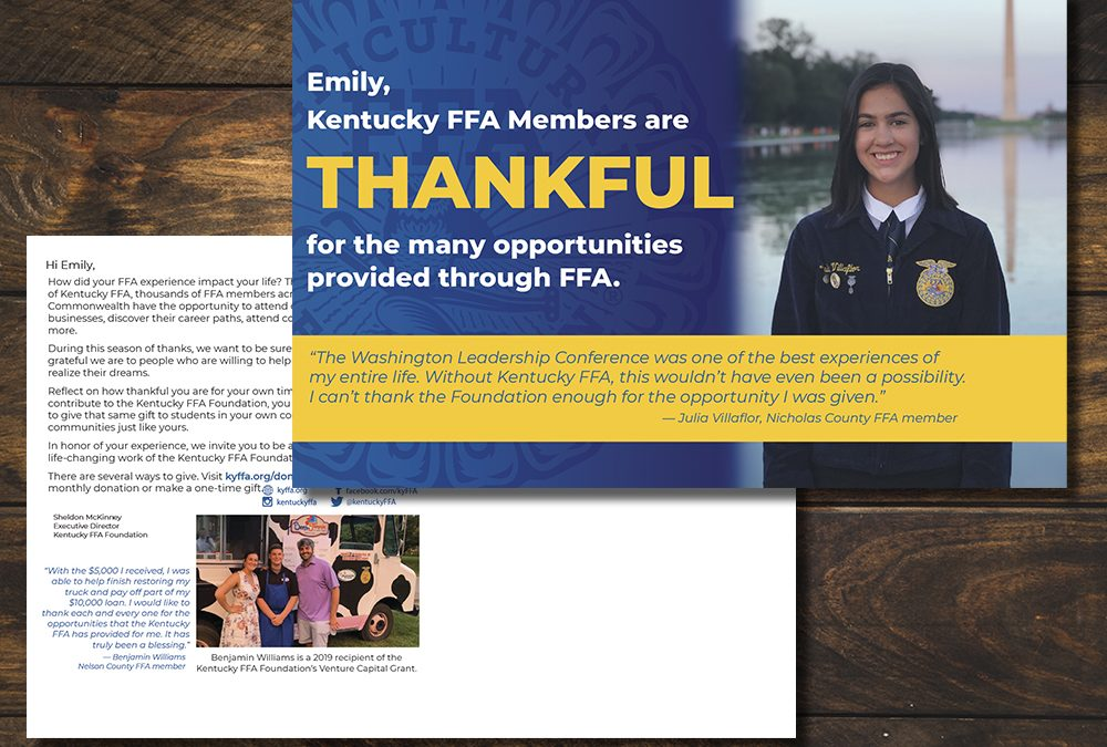 Kentucky FFA Foundation Postcard